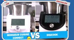 Robots cuiseurs Le match Digicook (Intermarché) et Monsieur Cuisine Connect (Lidl)