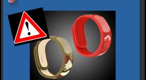 Bracelets antimoustiques  À éviter chez les nourrissons et les jeunes enfants